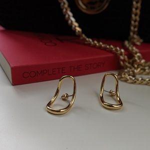 Simply Mahari Jewelry - Geo Curved Earrings